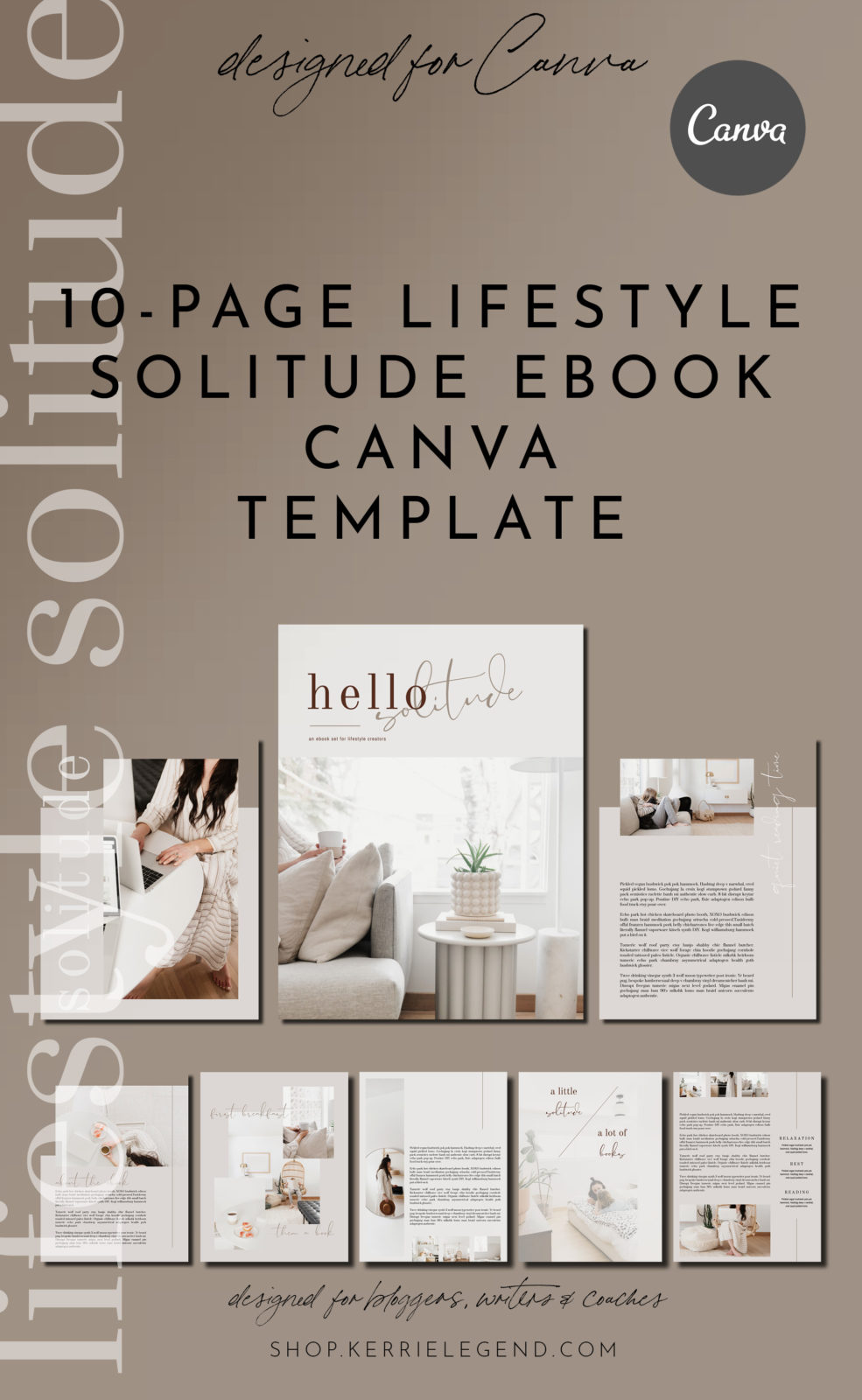 New Canva Template – Lifestyle Solitude