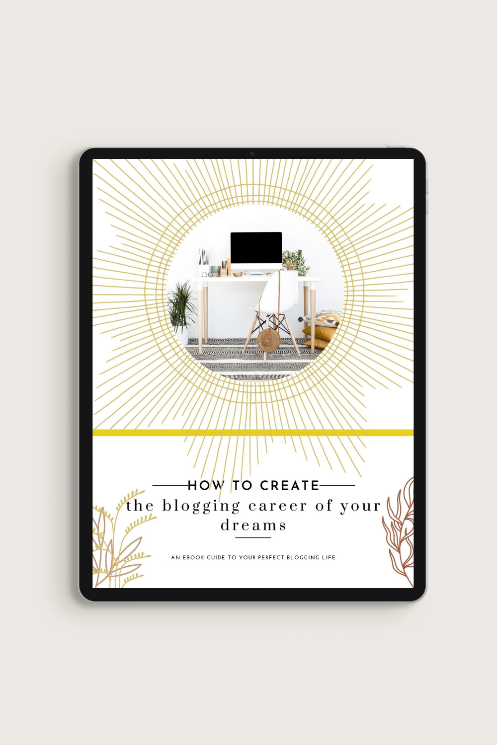 Boho Blogger eBook & Workbook Canva Template