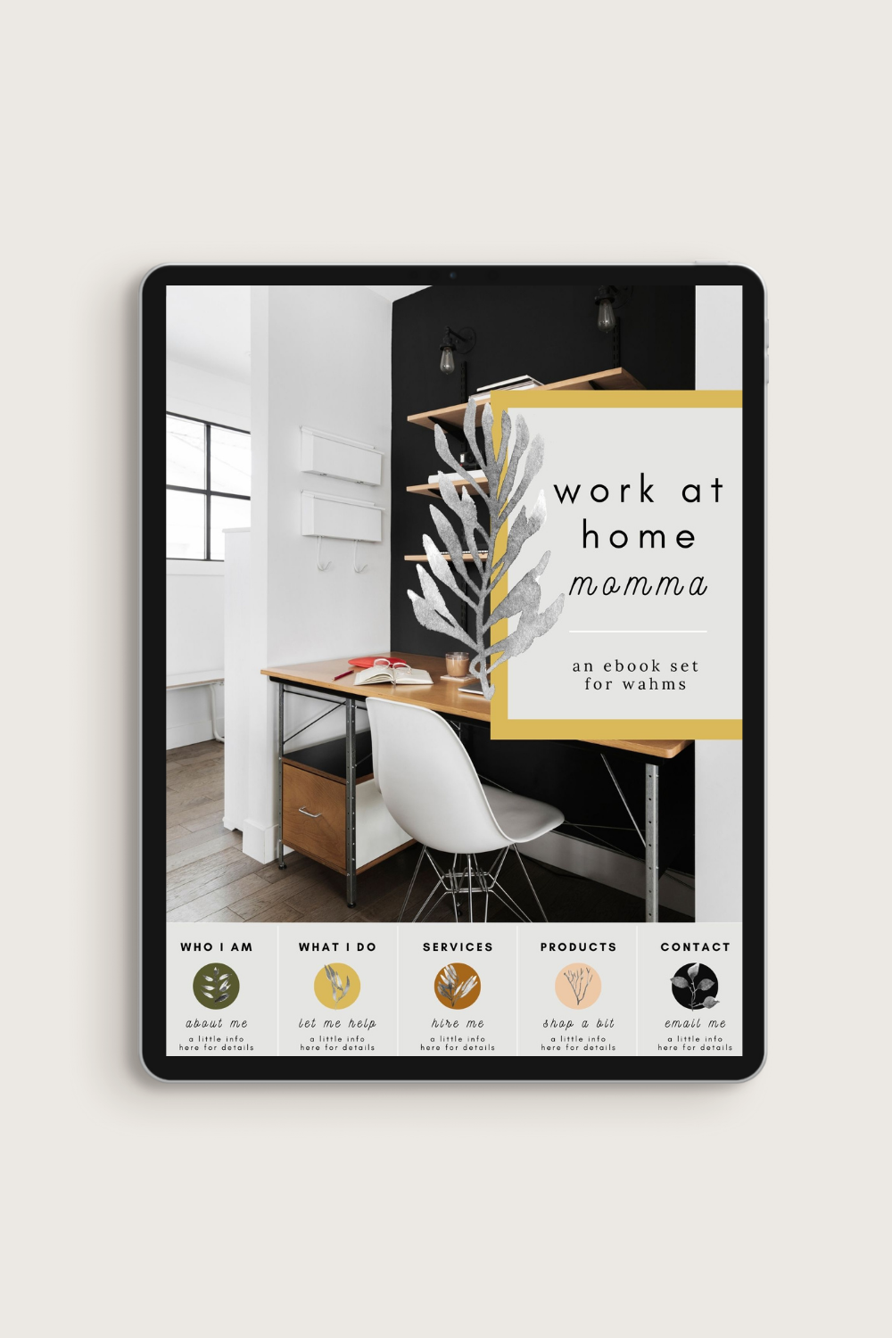 Work at Home Momma Canva Template