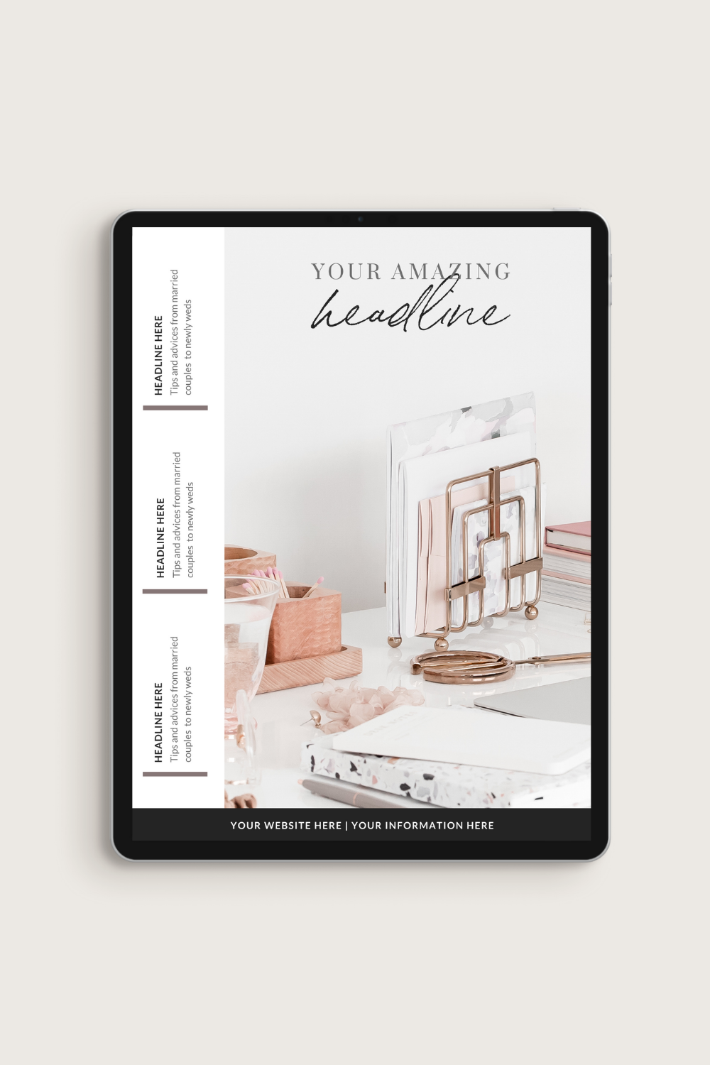 Stylish Boss eBook Workbook Canva Template