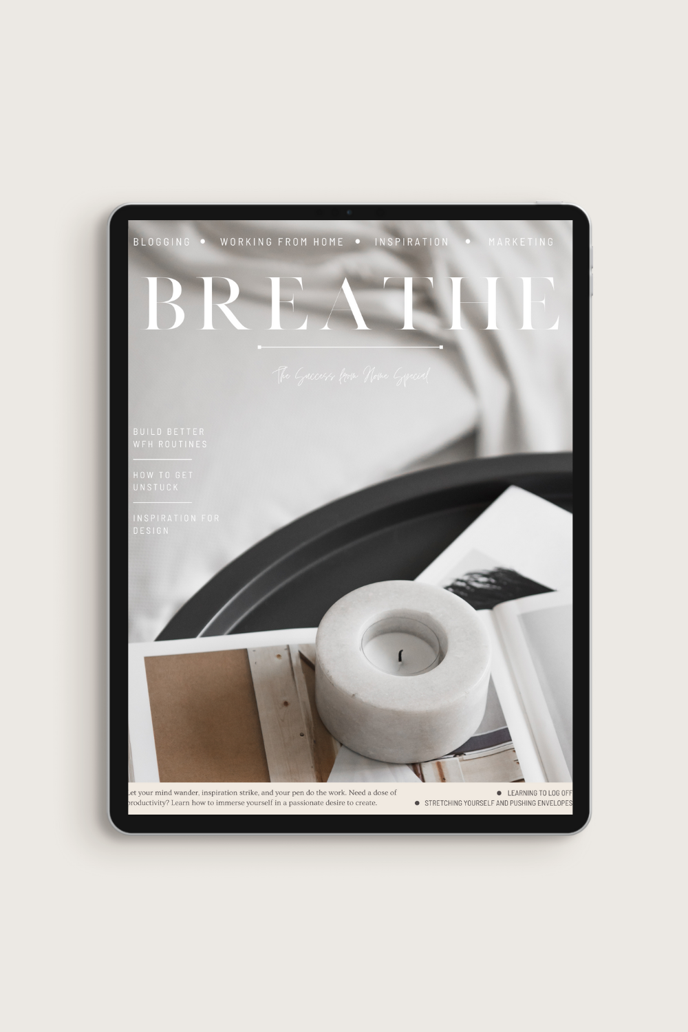 Breathe Magazine Canva Template