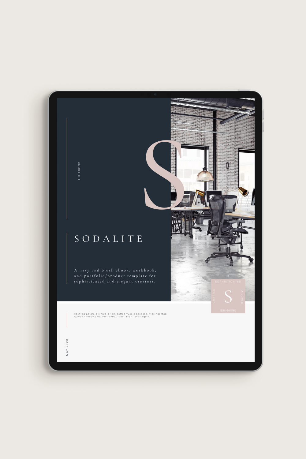 Sodalite eBook Workbook Canva Template